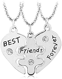 Sterling silver diamond necklace romantic anniversary gift for a woman's best friend best friend wedding birthday gift 3 pcs