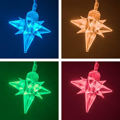 LED Sternenleuchtst/äbe 5 x 6 Sterne au/ßen klar