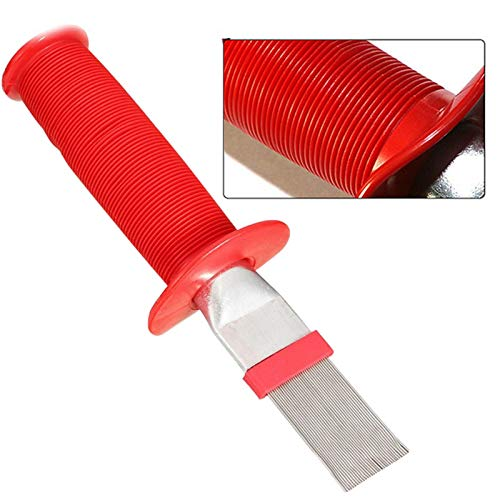 mollylower Air Conditioner Condenser Fin Comb,Coil Condenser Brush AC Fin Comb Stainless Steel Air Refrigerator Fin Cleaner Whisk Brush, Air Conditioner Fin Cleaner Repair Tool