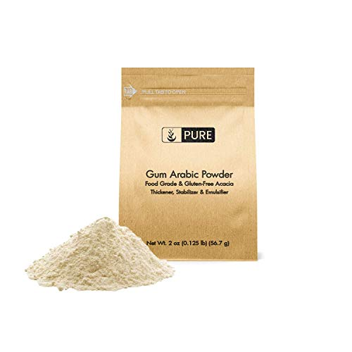 Gum Arabic (Acacia) Powder (2 oz) by Pure Ingredients, Essential Ingredient in DIY Watercolor Paint, Craft Cocktails, Royal Icing, Ice Cream, Confectionary Crafts, and Much More