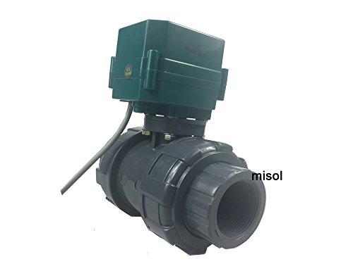 MISOL 1 pcs of Motorized PVC Valve 12V, DN40 BSP(1.5\