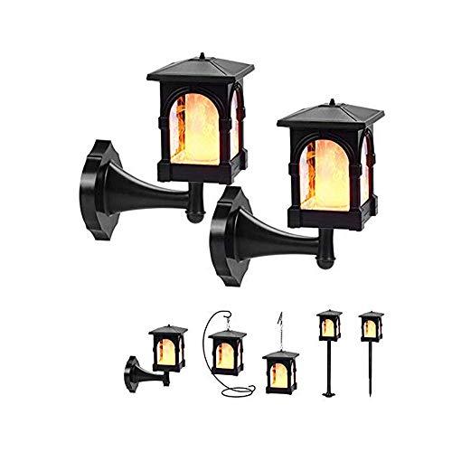 Solar lamp Flame lamp Garden Solar Lantern LED Solar Light Garden Lights Flame Light Landscape Sensor Light 2pcs. 1