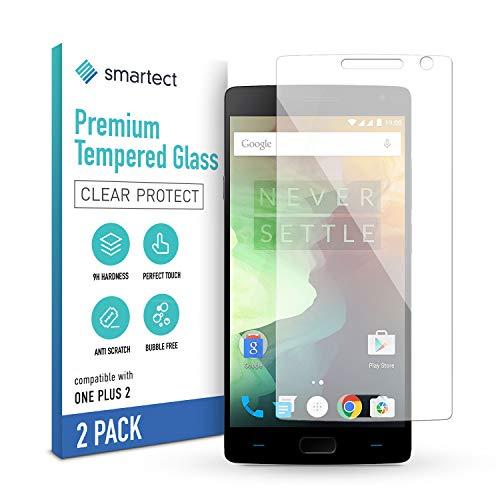 smartect Schutzglas kompatibel mit OnePlus 2 [2 Stück] - Tempered Glass mit 9H Festigkeit - Blasenfreie Schutzfolie - Anti-Kratzer Bildschirmschutzfolie