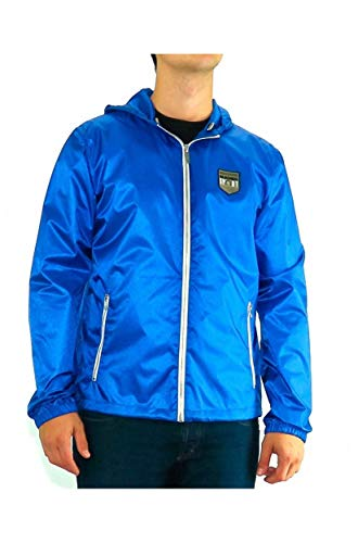 Bikkembergs - Jacket Dirk Lighting Blue Shell Logo Wind - Blu, XL