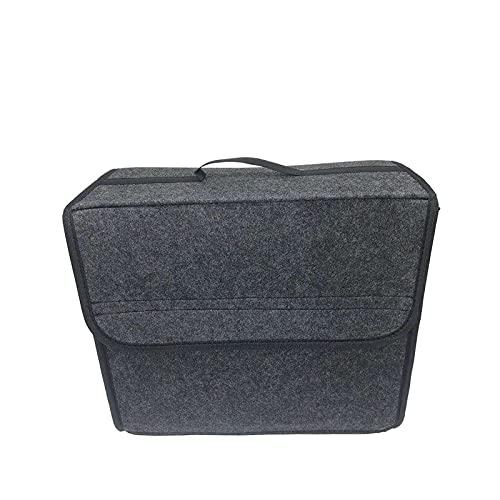 ZXCVBNM Organisateur de Coffre de Voiture Portable Pliable Feutre boîte de Rangement en Tissu étui de Rangement intérieur Automatique Rangement(Color:1PCS,Size:30x20x30cm)