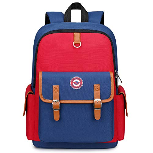 Kids Backpack Children Bookbag Preschool Kindergarten Elementary School Bag for Girls Boys(14182 small red)