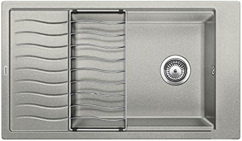 Weiß ELON XL 8 S 520 496 Küchenspüle S-520 perlgrau