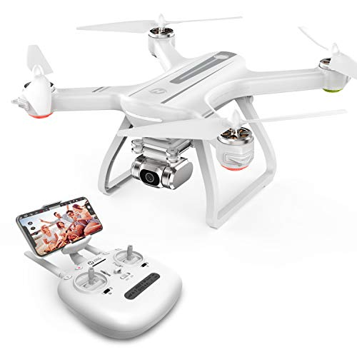 Holy Stone HS700D FPV Drone with 2K Full HD Camera Live Video and GPS Return Home RC Quadcopter for Adults Beginners with Brushless Motor, Follow Me, 5G WiFi Transmission, 22Mins Flight, Color White