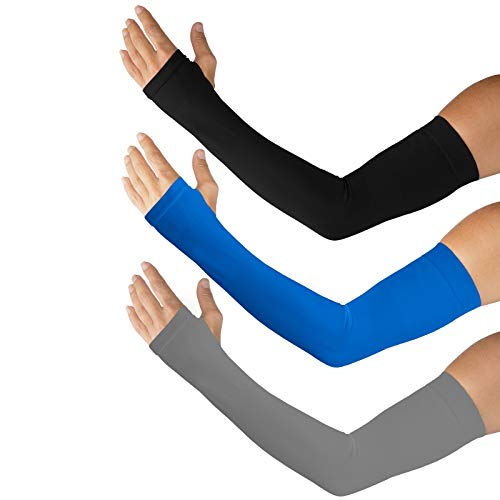 Kinship Comfort Brands® Performance Protection Arm Sleeves, Sun Protection for Golf, Tennis, Running, Cycling, Landscapers, Electricians (1 Size Fits All) 1,3,6 Pair Packs