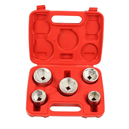 Ctool 5 Stks oliefilter Socket verwijderen gereedschap Set Cap moersleutel Kit 3/8