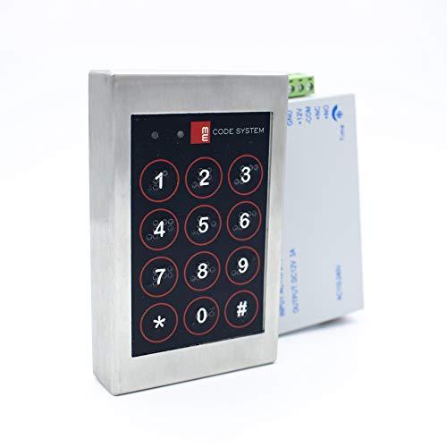 M&E-Kit Completo Teclado Inteligente Code System - Control de Acceso - Incluye Teclado y relé alimentador 12v, Listo para conectar - con Sistema Braille. Made in Spain - Innox