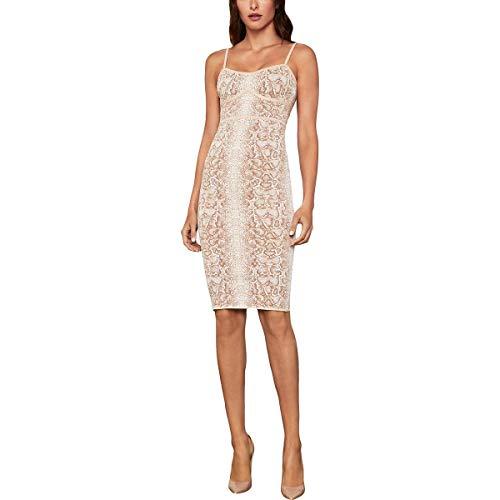 BCBGMAXAZRIA Vestido de cóctel de piel de serpiente para mujer - Rosa - 32 ES XX-Small