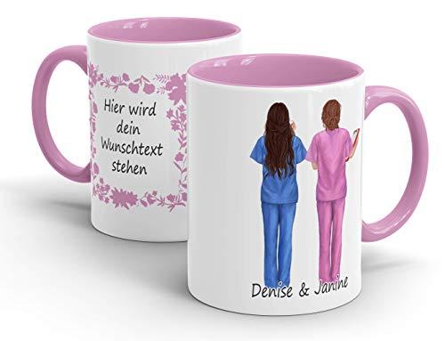 True Statements Krankenschwester Freundinnen Tasse - Aussehen u. Namen anpassbar - personalisierte Kaffee-Tasse Arbeits-Kollegin