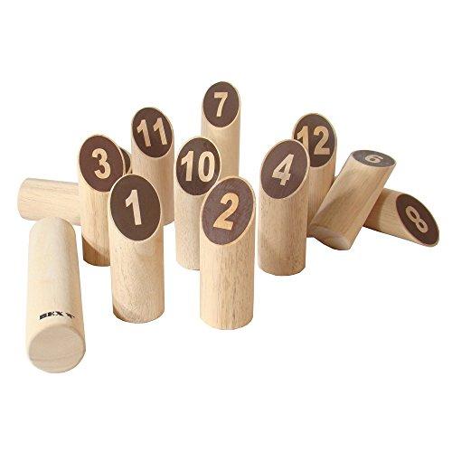 Bex nummer Kubb originele tuin spel - hout, 26,5 x 24 x 13 cm
