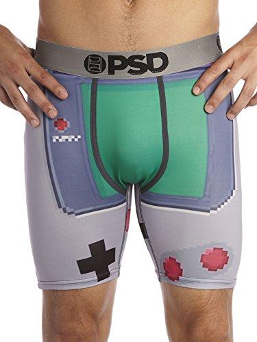 PSD Herren Game Boy Boxer Unterwäsche, Large, Grau