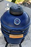 Lonestar Chef SCS-K15B Charcoal Kamado Grill, 15', Blue