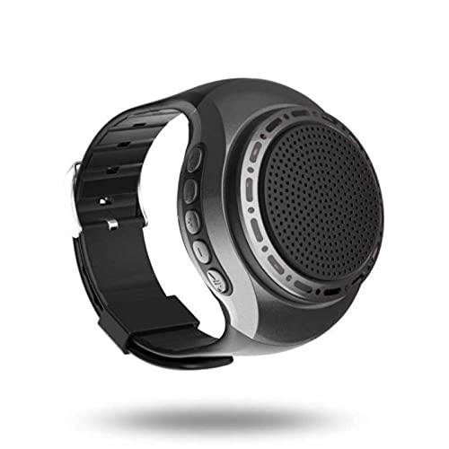 Altavoz Bluetooth Smartphone Wearing Audio Watch Self - Timer Handless Call Plug TF Card Speaker Negro