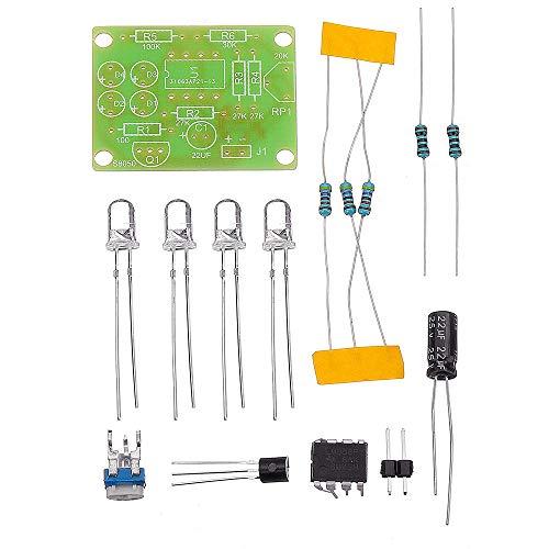 Módulo electrónico 3pcs LM358 respiración luz de los componentes electrónicos de bricolaje flash LED azul de la lámpara electrónica del kit Producción Equipo electrónico de alta precisión
