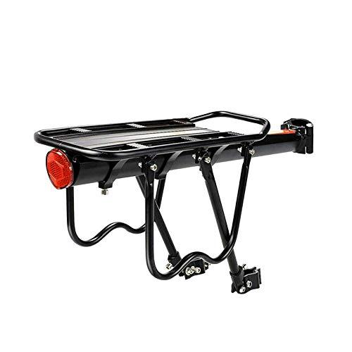 Kacsoo Portapacchi Posteriore per Bicicletta, Portapacchi per Bicicletta Regolabile con capacità di 50 kg, Portapacchi per Bicicletta Super Resistente a 2 Gambe Solide