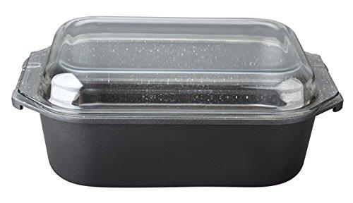 Michelino Cocotte en Fonte d'aluminium avec Couvercle en Verre – Marmarbré – Compatible Induction