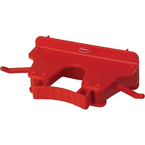 キョーワクリーン 本体 赤 横幅:16cm Vikan(ヴァイカン)ブラケット 3個掛け 10174