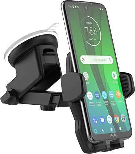 Encased Car Phone Mount, Works with Motorola Models (Moto G Power, G Stylus, Moto Z3, Z4, Moto G6, G7, G Play) Case Friendly Phone Holder for Car (Window, Dash Mounts)