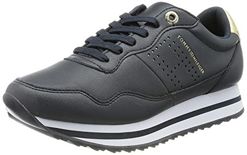 Tommy Hilfiger Lifestyle Runner Sneaker, Scarpe da Ginnastica Donna, Cielo del Deserto, 38.5 EU