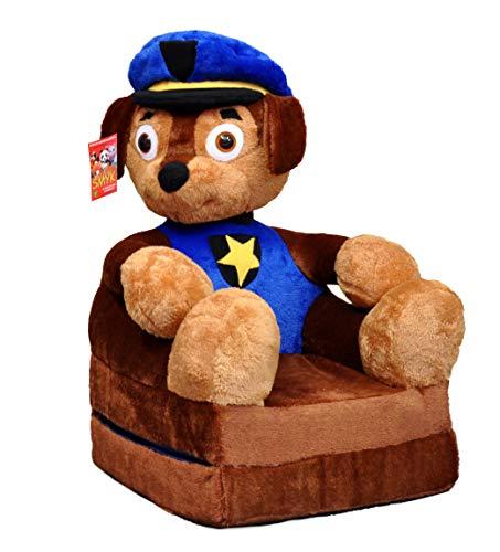 Bambi Poltrona, poltroncina apribile, divanetto per bambini in morbido peluche. Divano e giocattolo Paw Patrol Chase.