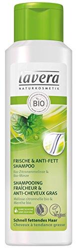 lavera Shampoo für Frische & Anti-Haar, Vegan, natürlich, pflanzliche Inhaltsstoffe, 250 ml