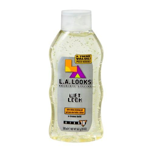 LA Looks L.A. REGARDE Wet Look Gel coiffant X-Treme Hold 20 oz (Pack of 6)