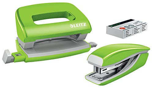Leitz Heftgerät + Locher Mini Nexxt WOW Blist, Grün