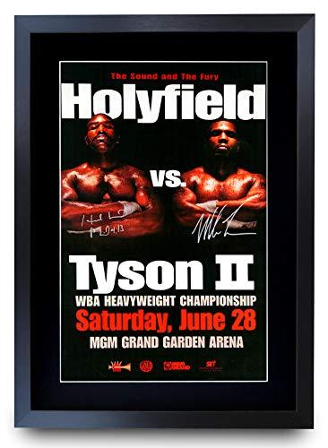 HWC Trading Holyfield Tyson II Fight Evander Holyfield vs. Mike Tyson II 2 regalos impreso...