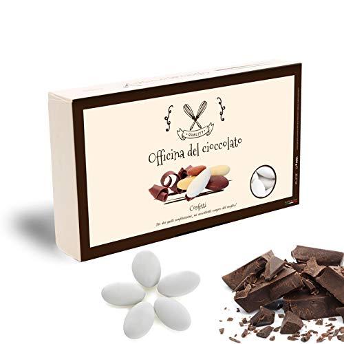 CONFETTI al Cioccolato Fondente -SCELTA TRA TANTI COLORI- Confezioni da 1 KG. (Bianchi)