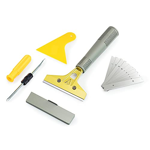 LDS Industry Extendable Razor Blade Sticker/paint Scraper Remover for Window Glass Windshield Tile Granite Wall Cleaning Hand Tool, Gum Cleaning, Stove Cleaner, SCRP-A