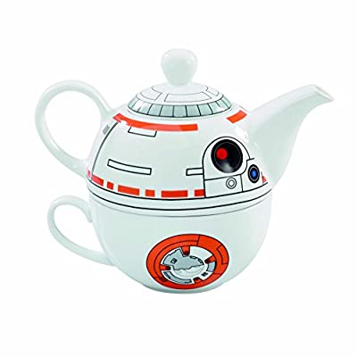 Star Wars BB-8 Ceramic Teapot and Cup Set 12 Ounce Pot, 6 Ounce Mug