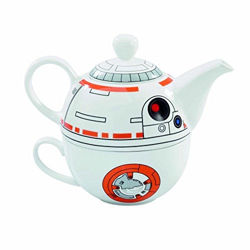 Star Wars SW03543 - Set di 2 teiere e tazze, colore: Bianco
