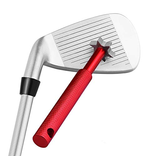 Yandu Golf Cleaner Golf Club Groove Sharpener for all Irons Pitching Sand Lob Gap and Approach Wedges and Utility Clubs Red