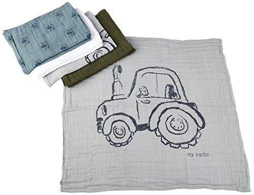pippi Organic Cloth Muslin Mouchoir, Plomb, 65X65 Mixte bébé