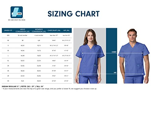 Medizinische Uniformen Unisex Top Krankenschwester Krankenhaus Berufskleidung 601 Color Nvy | Talla: M - 8
