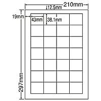 東洋印刷 シートカットラベル A4版 28面付(1ケース500シート) LDW28Q
