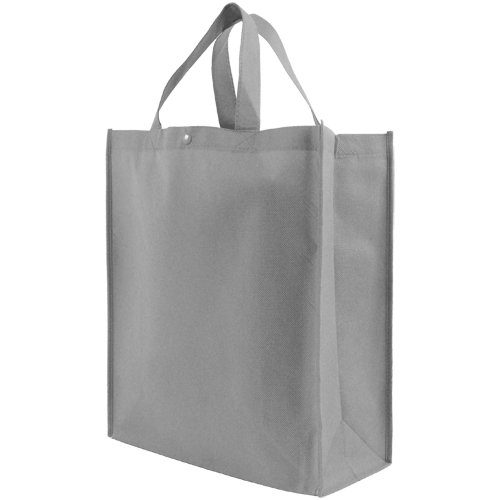 Reusable Grocery Tote Bag Large 10 Pack - Gray