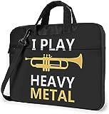 Ich Spiele Heavy Metal Laptoptasche Stoßfeste Aktentasche Umhängetaschen Tragetasche Laptop 14 Zoll