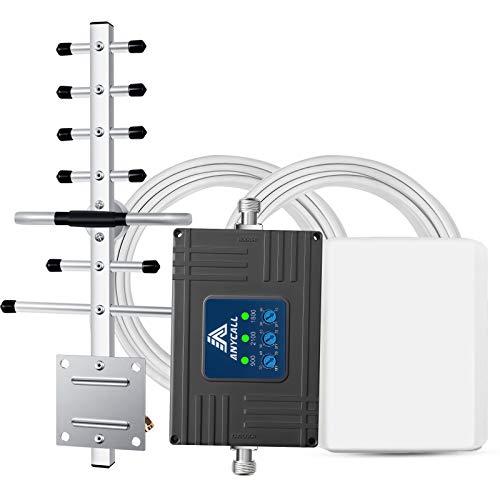 Anycall GSM Repeater LTE Verstärker GSM Repeater alle netze mobilfunk Verstärker 900MHz (Band 8) 2100MHz(Band 1) 1800MHz (Band 3) E-Plus T-Mobile Vodafone Drei GSM 2G 3G 4G LTE Handy Signalverstärker für Zuhause und Büro