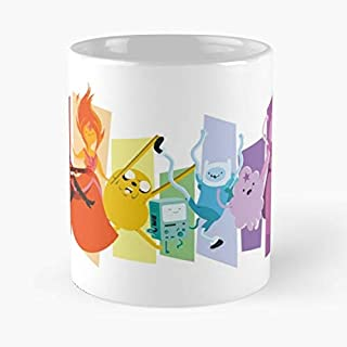 Adventure Time Rainbow Classic Mug - The Funny Coffee Mugs For Halloween, Holiday, Christmas Party Decoration 11 Ounce White-lotussys.
