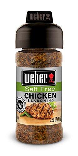 Weber Salt Free Chicken Seasoning, 2.5 oz (Pack of 6)