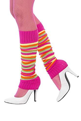 Smiffys Damen Stulpen, One Size, Neon Bunt, 45643
