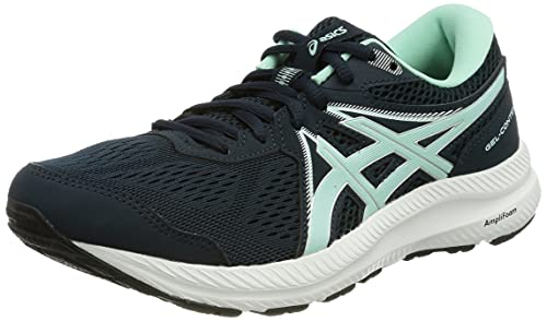 Asics Gel-Contend 7, Zapatillas para Correr Mujer, French Blue/Fresh Ice, 40.5 EU