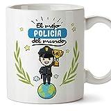 MUGFFINS Policía Tazas Originales de café y Desayuno para Regalar a Trabajadores Profesionales -...