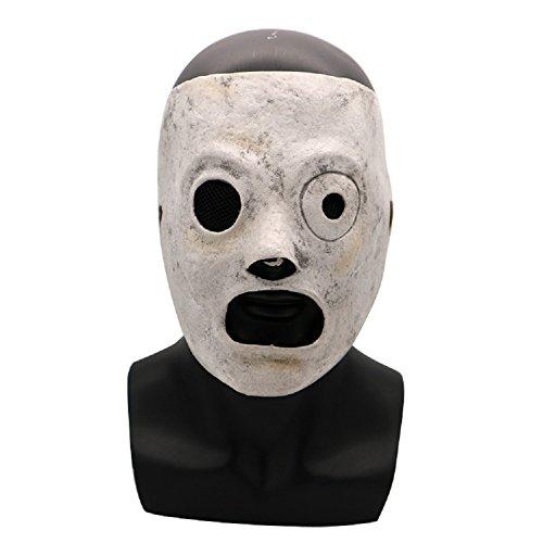 Slipknot Mask Latex Corey Taylor Halloween Cosplay Prop Adjustable Accessory White