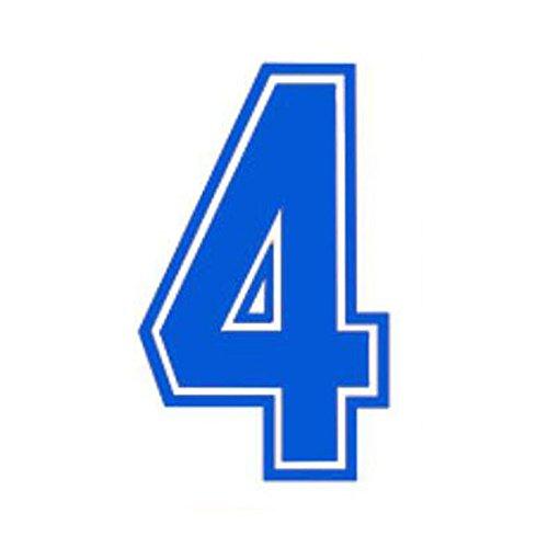 Numbers - Camiseta deportiva de transferencia de calor para balón de fútbol, color azul